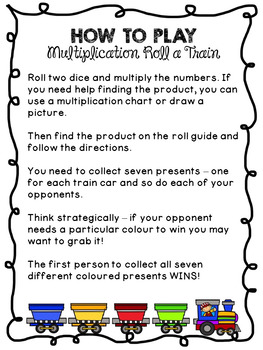 Christmas Multiplication Train Game