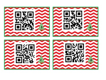 Christmas Multiplication Word Problems QR CODES