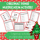 Christmas Multiplication Word Problems and Activities