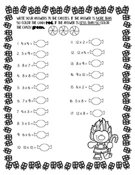 Christmas Multiplication Worksheets by Teaching Naturally ...