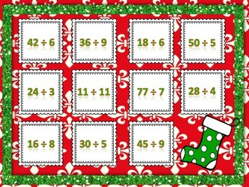 Christmas Multiplication and Division Bump