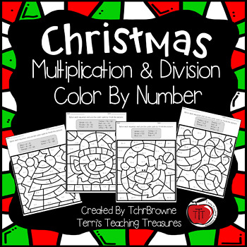 Christmas Multiplication and Division Color by Number
