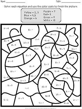 christmas color by number division worksheets coloring pages. Black Bedroom Furniture Sets. Home Design Ideas