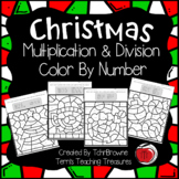 Christmas Color by Number -  Multiplication and Division
