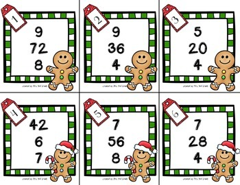 Christmas Multiplication and Division Fact Families