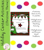 Christmas: Multiplication and Division- Math Center Activities