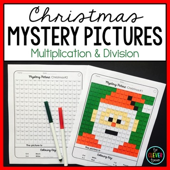 Mystery Pictures Christmas - Multiplication and Division Facts