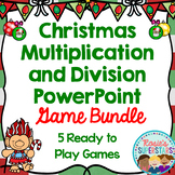 Christmas Multiplication and  Division PowerPoint Game Bundle: 4 Games