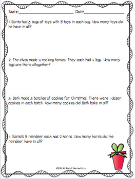 Christmas Multiplication and Division Review
