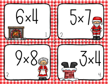 Christmas Multiplication and Division Task Cards