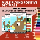 Christmas : Multiplying Decimals Pixel Art Mystery Pictures