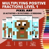 Christmas: Multiplying Fractions #1 Pixel Art Mystery Pictures