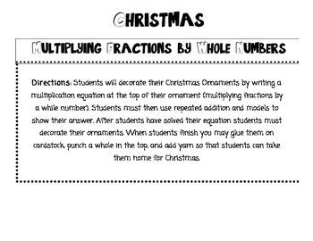 Christmas Multiplying Fractions