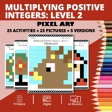 Christmas: Multiplying Integers #2 Pixel Art Mystery Pictures