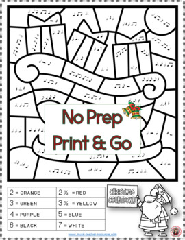 Christmas Music: 26 Christmas Music Colouring Pages