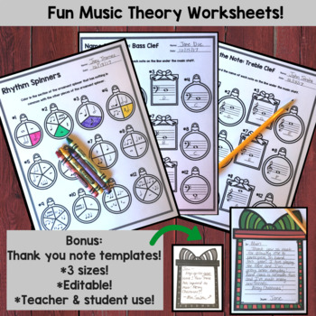 Christmas Music Activities Bundle- for Band, Choir or Orchestra
