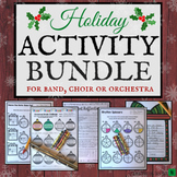 Christmas Music Activities & Worksheets for Band, Choir or Orchestra