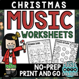 Christmas Mega Pack of Music Worksheets