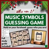 "Christmas Music Games & Activities- Music Symbols ""Who Am I"" Guessing Game"