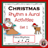 Christmas Music Activities: Rhythm and Aural Activities SET 1