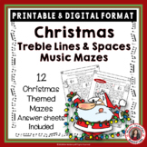 Christmas Music Activities: Treble Lines and Spaces Music