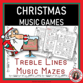 Christmas Music Activities: Treble Pitch Mazes for Treble