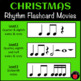 Christmas Music Activity: Rhythm Flashcard Activities for December Music Lessons
