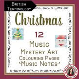 Christmas Music Colouring Sheets: 12 Music Colouring Pages