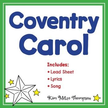 Christmas Music: Coventry Carol with Song, Music Lead Sheet & Lyrics