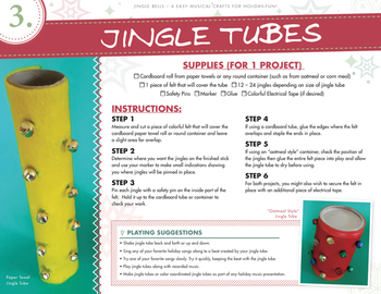 Christmas Music Craft - Jingle Bell Tubes