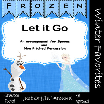 Christmas Music - Frozen Let it go for spoons and percussion
