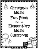 Christmas Music Fun Pack For The Elementary Music Classroom