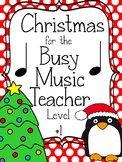 Christmas Music Game Bundle Level 1: four games, zero prep!