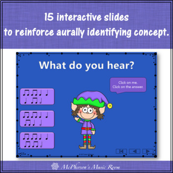 Christmas Music Game: Half Notes Interactive Rhythm Game {Dancing Elf}