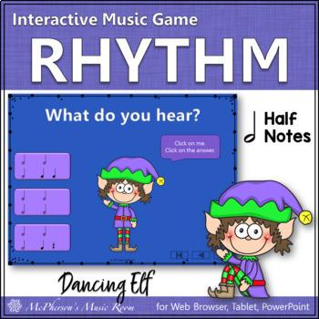 Christmas Music Game: Half Notes Interactive Rhythm Game {Dancing Elf}
