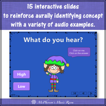 Christmas Music Game: High Low Interactive Music Opposite {Dancing Elf}