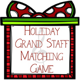 Christmas Music Game: Holiday Grand Staff Matching
