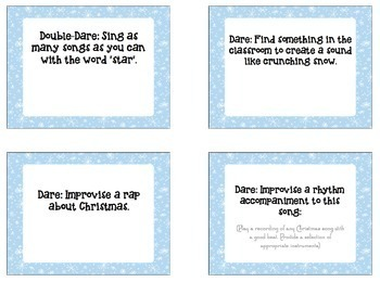 Christmas Music Game - Holiday Music Truth or Dare for Junior Grades