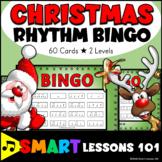 Christmas Music Game: Rhythm Flashcard Bingo Activity
