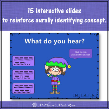 Christmas Music Game: Sixteenth Notes Interactive Rhythm Game {Dancing Elf}