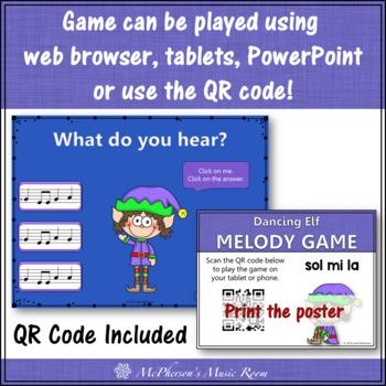 Christmas Music Game: Sol Mi La Interactive Melody Game {Dancing Elf}