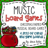 Christmas Music Games- 4 Different Game Boards and Card Sets