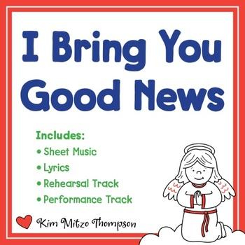 Christmas Music: I Bring You Good News with Song Sheet Music & Lyrics