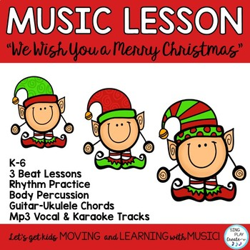 """Christmas Music Lessons Bundle """"We Wish You A Merry Christ"""
