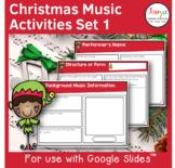 Christmas Music Listening Activities- Set 1
