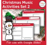 Christmas Music Listening Activities- Set 2