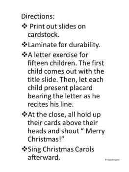 Christmas Music Program Introduction - Christmas Acrostic