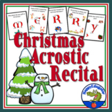 Christmas Music Program Introduction - Christmas Acrostic