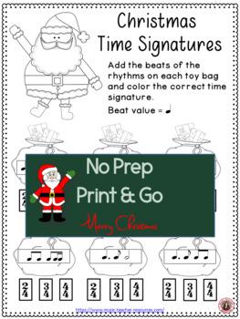 Christmas Music: Santa Meter Match Activity