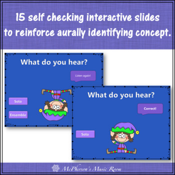 Christmas Music: Solo Ensemble Interactive Music Game & Assessment {Dancing Elf}